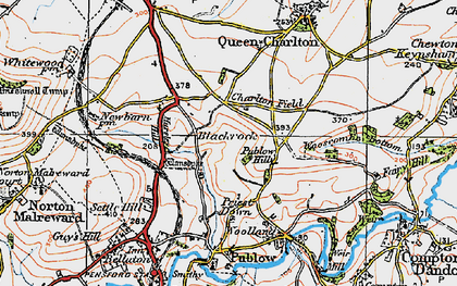Old map of Blackrock in 1919