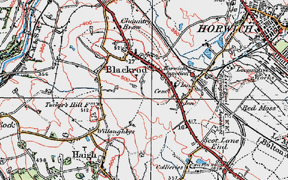 Old map of Blackrod in 1924
