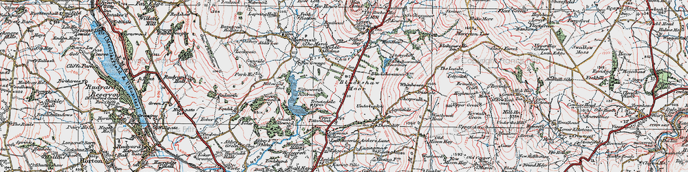 Old map of Tittesworth Reservoir in 1923