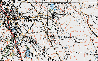 Old map of Blacksnape in 1924