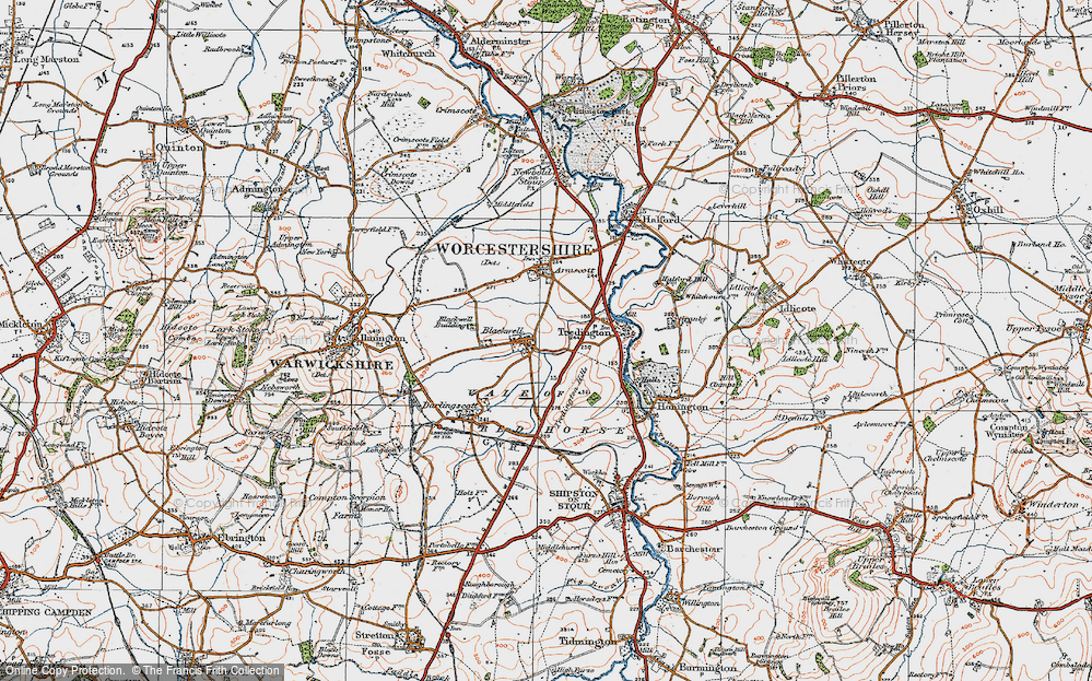 Old Map of Blackwell, 1919 in 1919