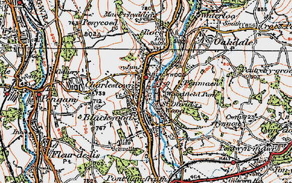 Old map of Blackwood in 1919