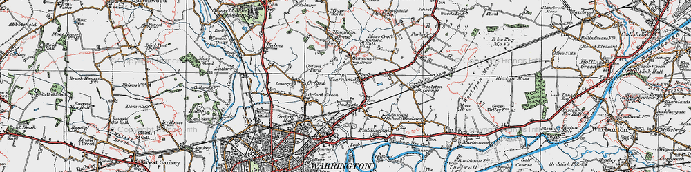 Old map of Blackwood in 1923