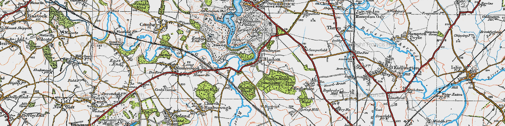 Old map of Lince, The in 1919
