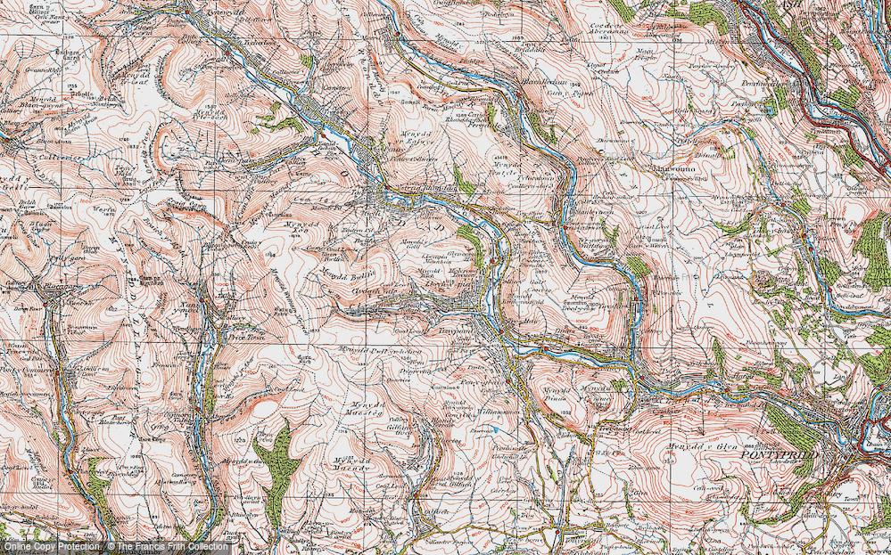 Old Map of Blaen Clydach, 1922 in 1922