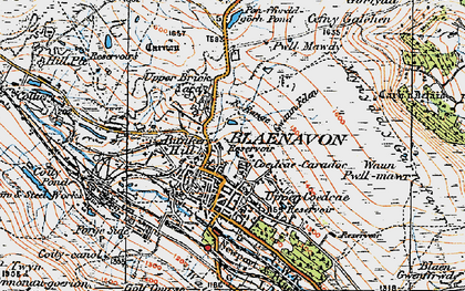 Old map of Blaenavon in 1919