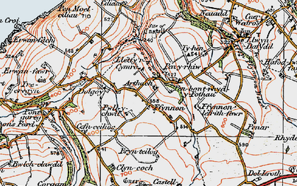 Old map of Arthach in 1923