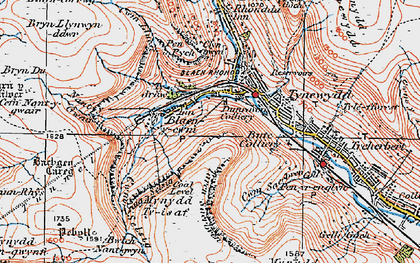 Old map of Bachgen Careg in 1923