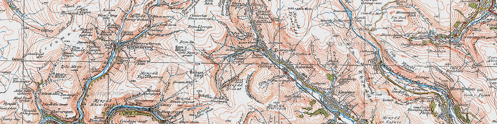 Old map of Blaencwm in 1923