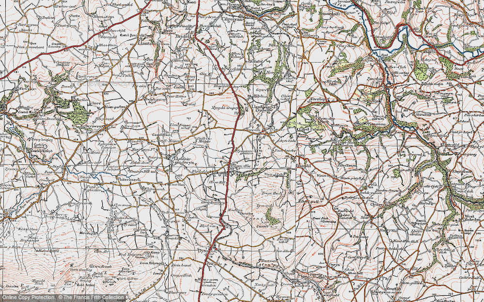 Old Map of Blaenffos, 1923 in 1923