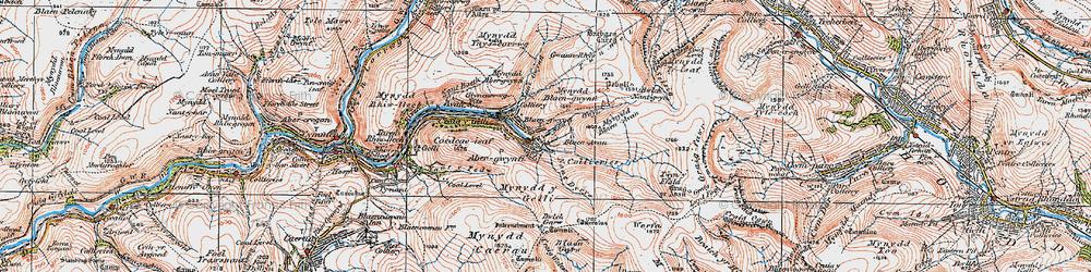 Old map of Blaengwynfi in 1923