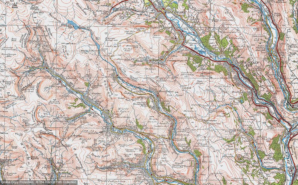 Old Map of Blaenllechau, 1923 in 1923