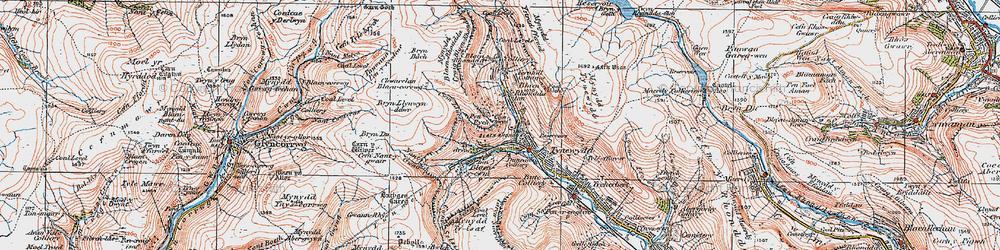 Old map of Blaenrhondda in 1923