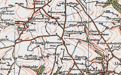 Old map of Blaenwaun in 1922