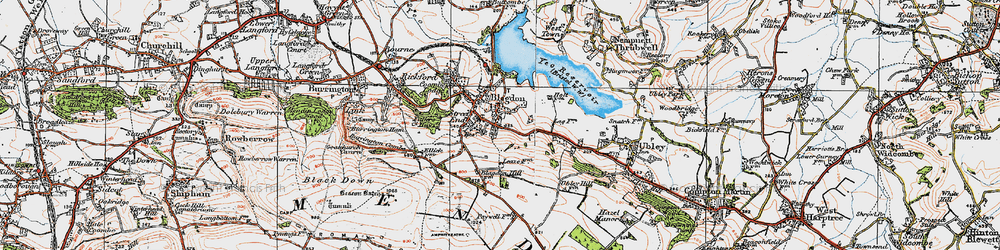 Old map of Blagdon in 1919
