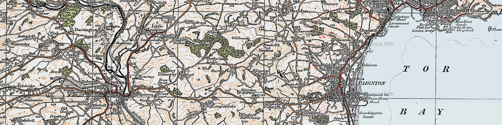 Old map of Afton in 1919
