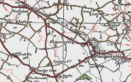 Old map of Blaguegate in 1923