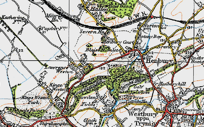 Old map of Blaise Hamlet in 1919