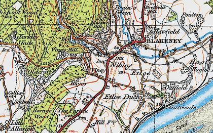 Old map of Blakeney in 1919