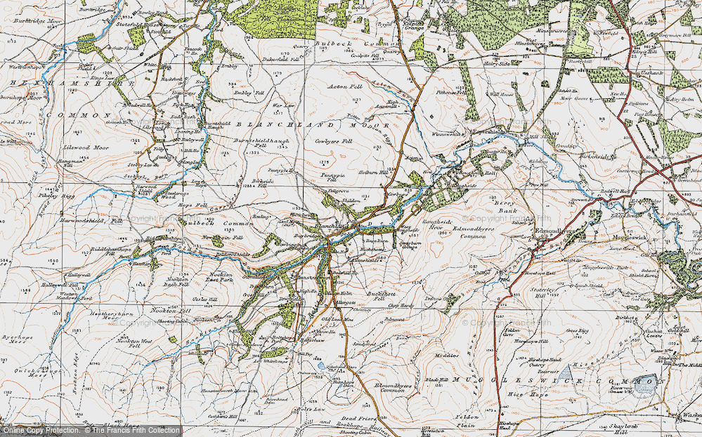 Old Map of Historic Map covering Acton in 1925