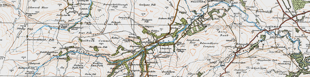 Old map of West Ruffside in 1925