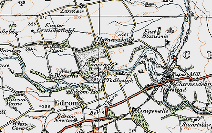 Old map of Todheugh in 1926