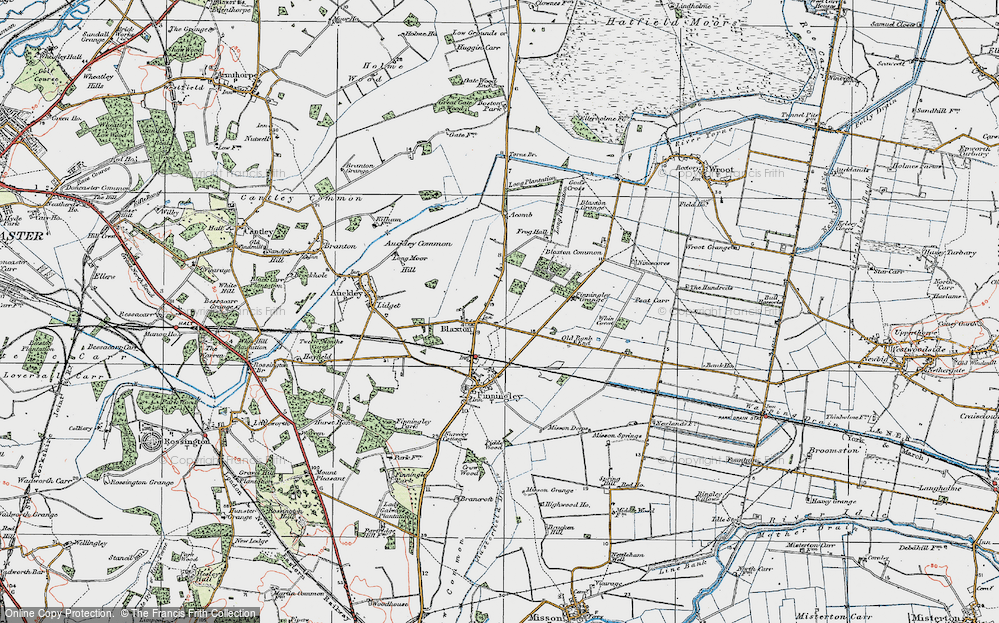 Old Map of Blaxton, 1923 in 1923