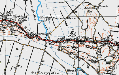 Old map of Westbury Moor in 1919