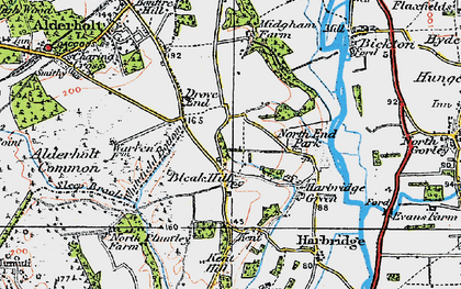 Old map of Whitefield Bottom in 1919