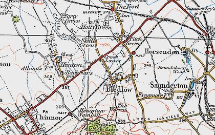 Old map of Bledlow in 1919