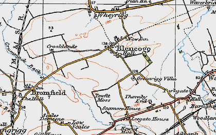 Old map of Leegate Ho in 1925