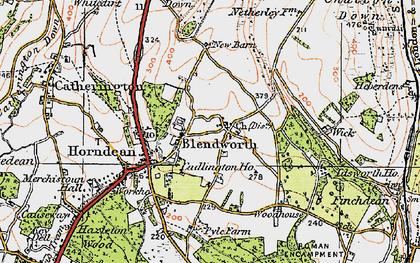 Old map of Blendworth in 1919