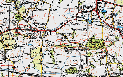 Old map of Wychcroft Ho in 1920