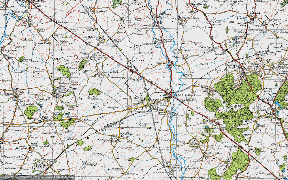 Old Map of Bletchley, 1919 in 1919