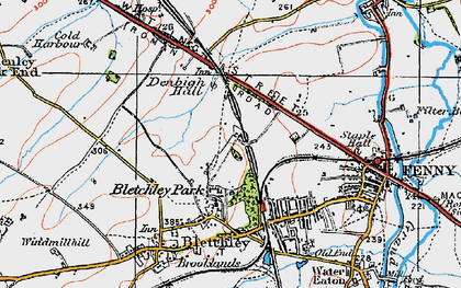 Old map of Bletchley in 1919