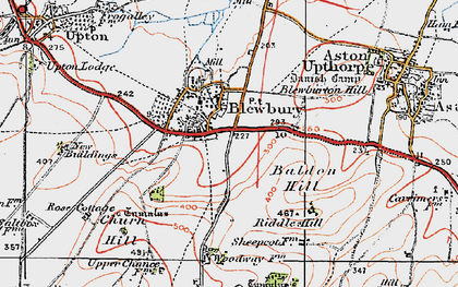 Old map of Blewbury in 1919