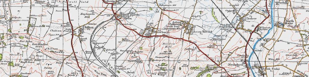 Old map of Blewbury in 1919