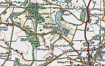 Old map of Blickling in 1922