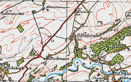 Old map of Laol Moota in 1925