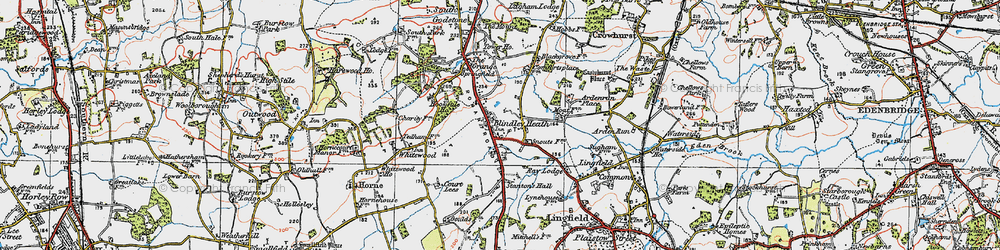 Old map of Ardenrun in 1920