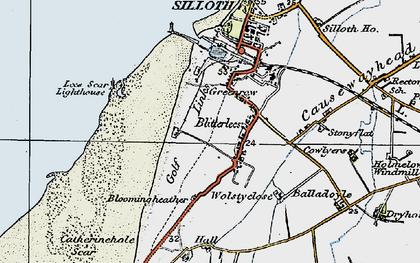 Old map of Lees Scar in 1925