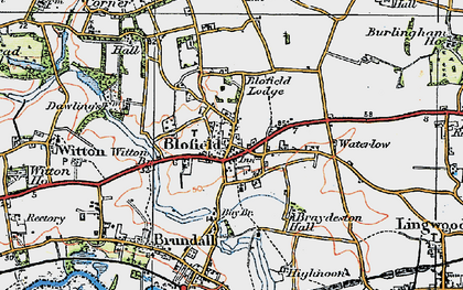 Old map of Witton Br in 1922