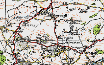 Old map of Bloomfield in 1919