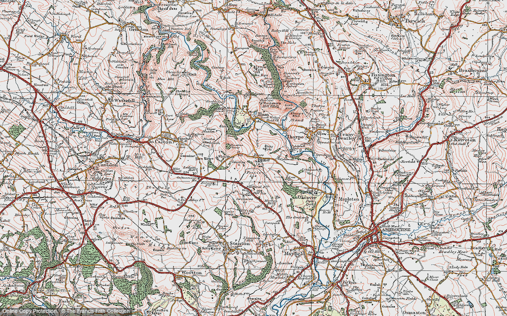 Old Map of Blore, 1921 in 1921