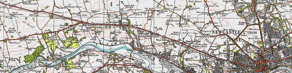 Old map of Blucher in 1925