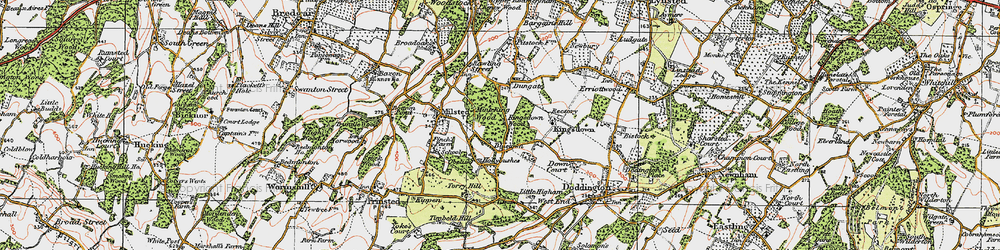 Old map of Bluetown in 1921