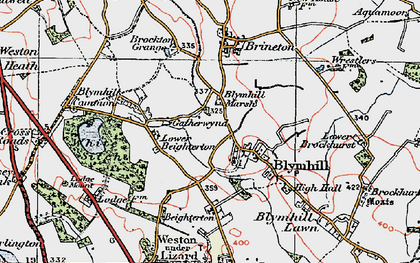 Old map of White Sitch in 1921