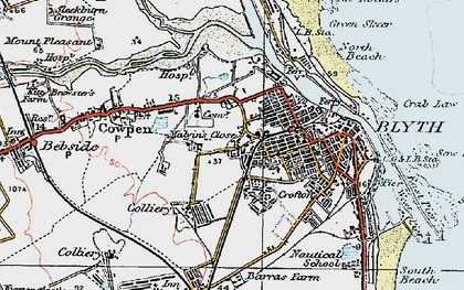 Old map of Blyth in 1925
