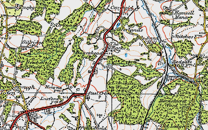Old map of Aldwick Grange in 1920