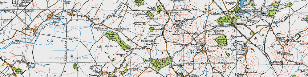 Old map of Whitecross Green Wood in 1919